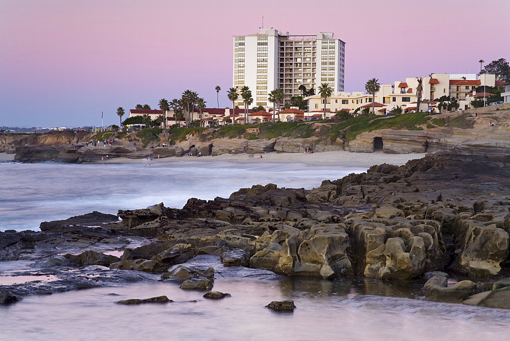 Coastline at sunset, La Jolla, San Diego County, California, United States of America, North America