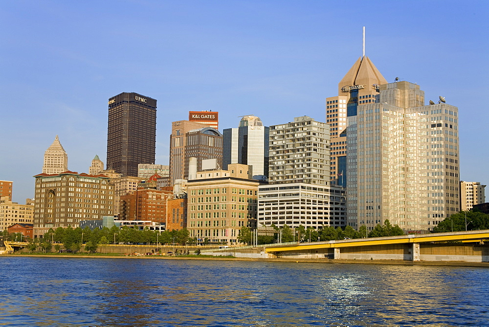 Pittsburgh skyline and the Allegheny River, Pittsburgh, Pennsylvania, United States of America, North America
