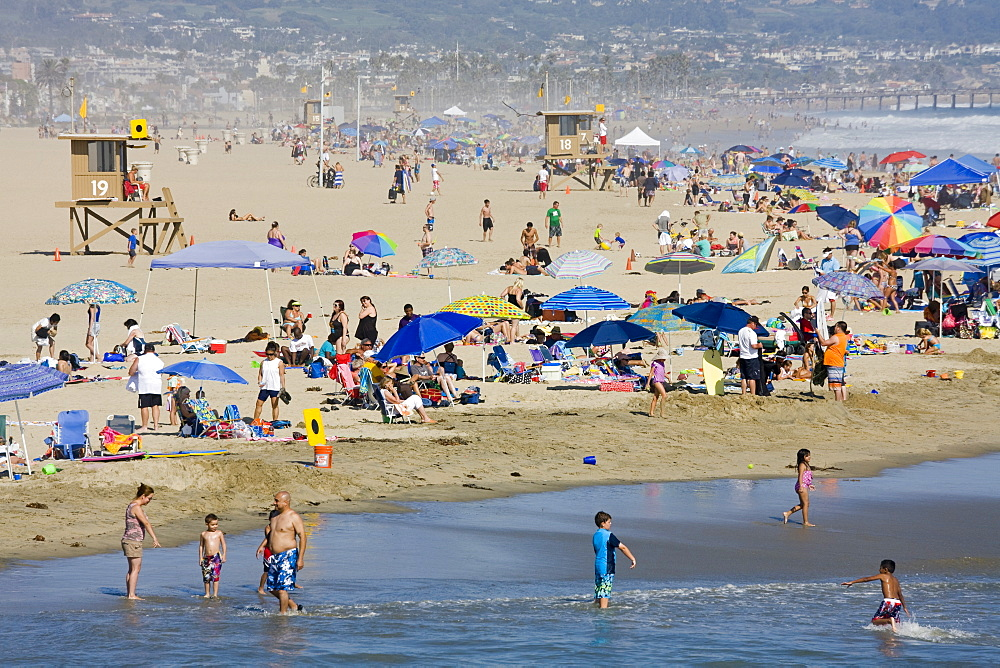Summer day at Newport Beach, Orange County, California, United States of America, North America