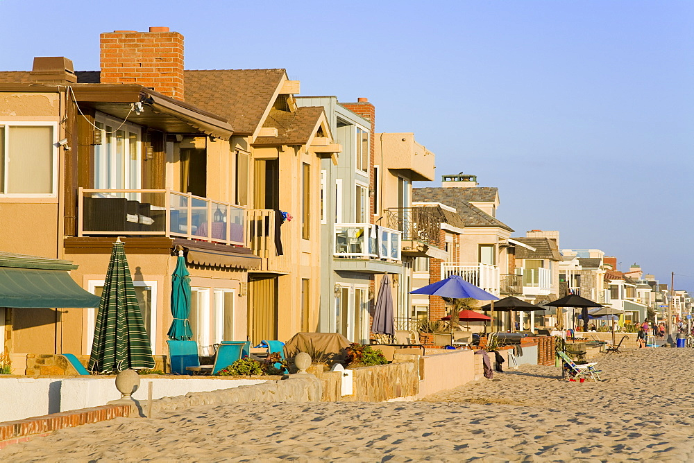 Oceanfront homes in Newport Beach, Orange County, California, United States of America, North America