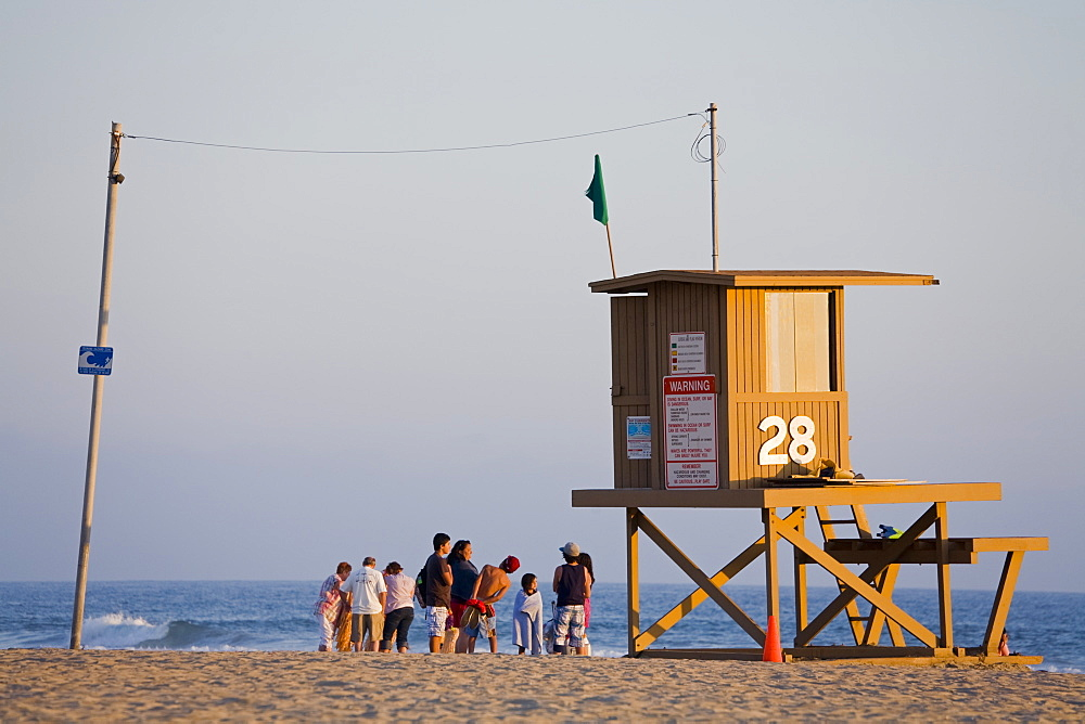 Lifeguard Tower on Newport Beach, Orange County, California, United States of America, North America