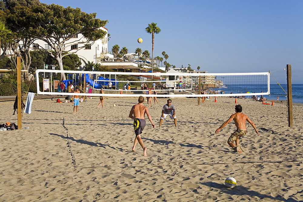 Volleyball on Laguna Beach, Orange County, California, United States of America, North America