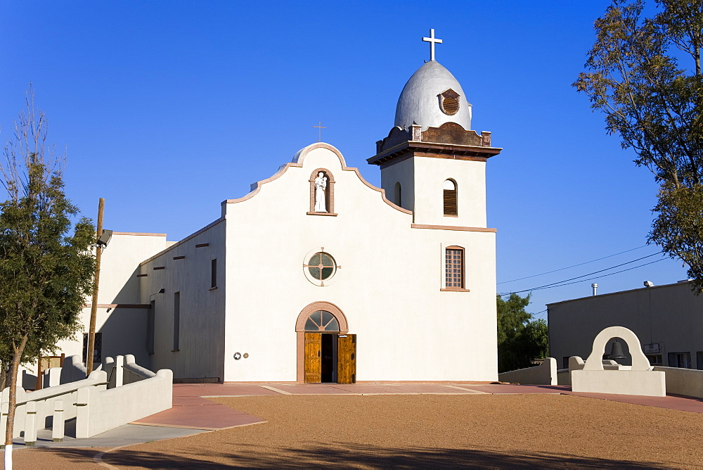 Ysleta Mission on the Tigua Indian Reservation, El Paso, Texas, United States of America, North America - 776-3049