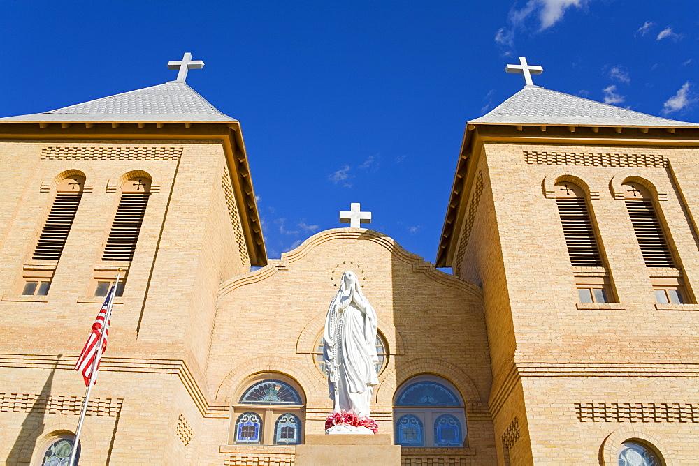 Basilica of St. Albino in Old Mesilla village, Las Cruces, New Mexico, United States of America, North America