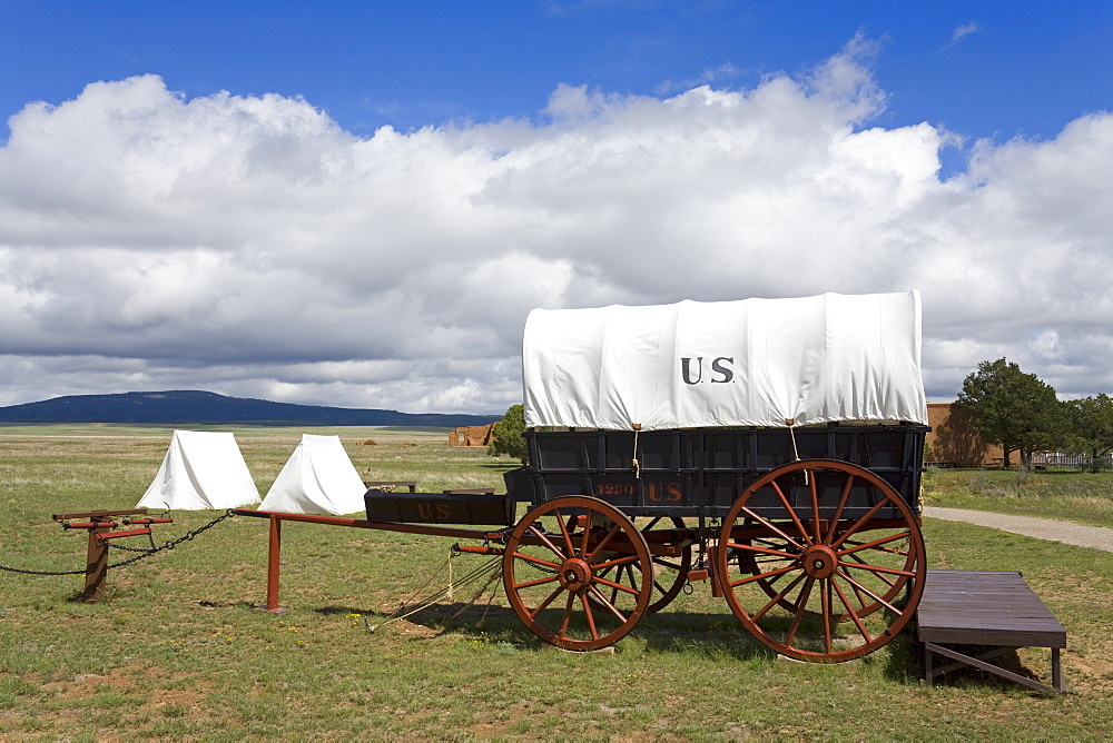 Wagon in Fort Union National Monument, Las Vegas, New Mexico, United States of America, North America