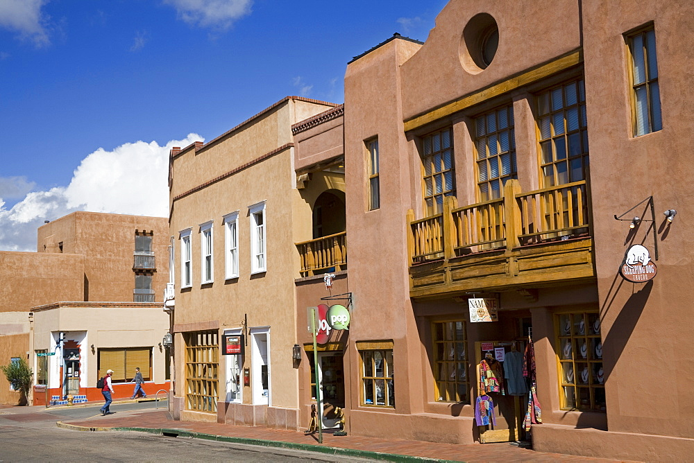 Water Street, Santa Fe, New Mexico, United States of America, North America