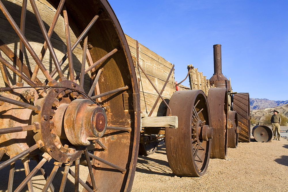 Old Dinah, a 1894 steam tractor in Furnace Creek, Death Valley National Park, California, United States of America, North America