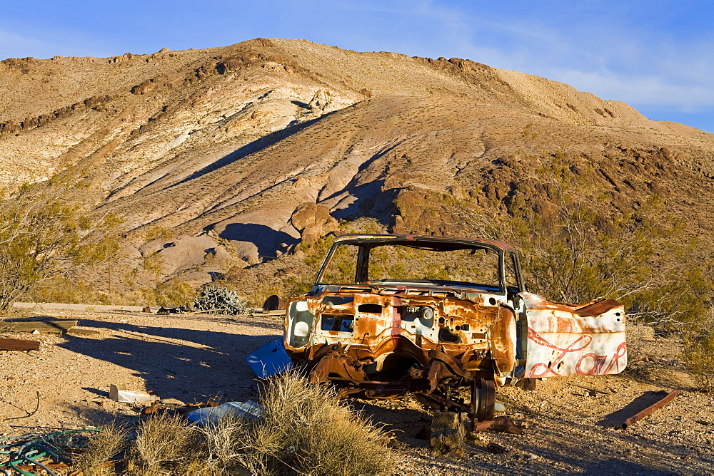 Rhyolite ghost town, Beatty, Nevada, United States of America, North America