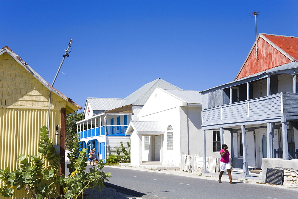 Historic Grant Building in Cockburn Town, Grand Turk Island, Turks and Caicos Islands, West Indies, Caribbean, Central America