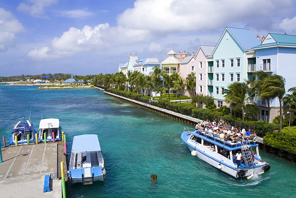 Paradise Island ferry terminal, Nassau City, New Providence Island, Bahamas, West Indies, Central America