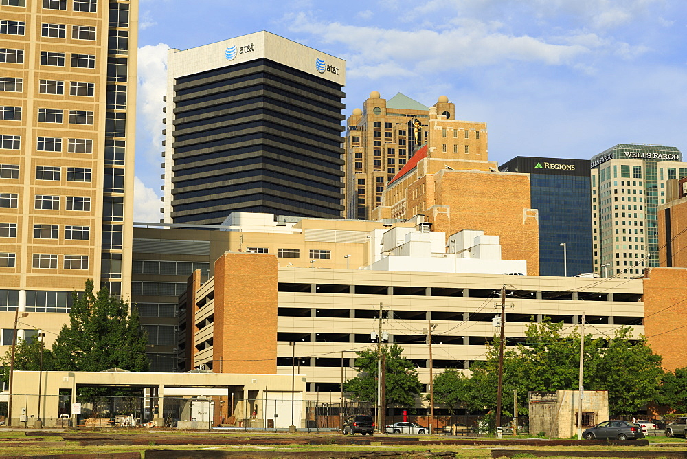 Downtown Birmingham skyline, Alabama, United States of America, North America