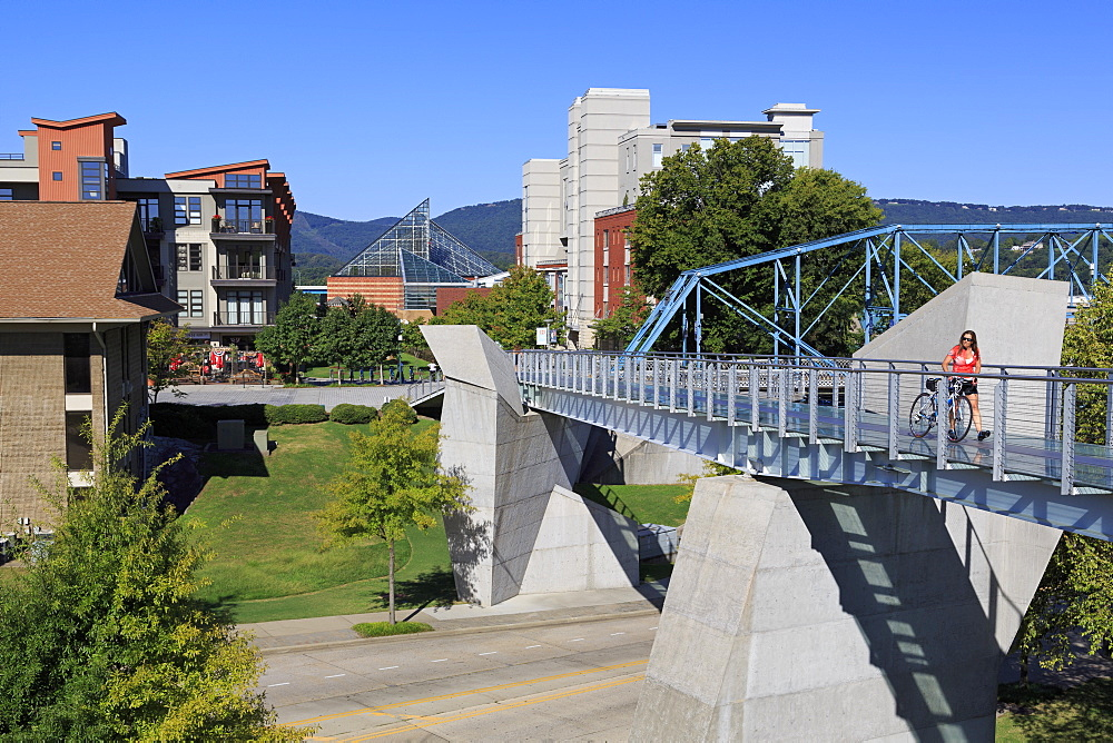 Holmberg Pedestrian Bridge, Bluff View Arts District, Chattanooga, Tennessee, United States of America, North America