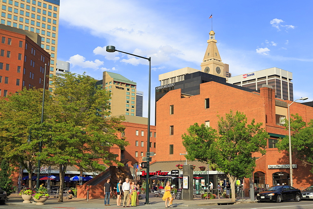 Writers Square on 16th Street Mall, Denver, Colorado, United States of America., North America