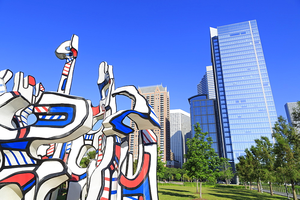 Monument Au Fantome by Jean Dubuffet in Discovery Park, Houston, Texas, United States of America, North America