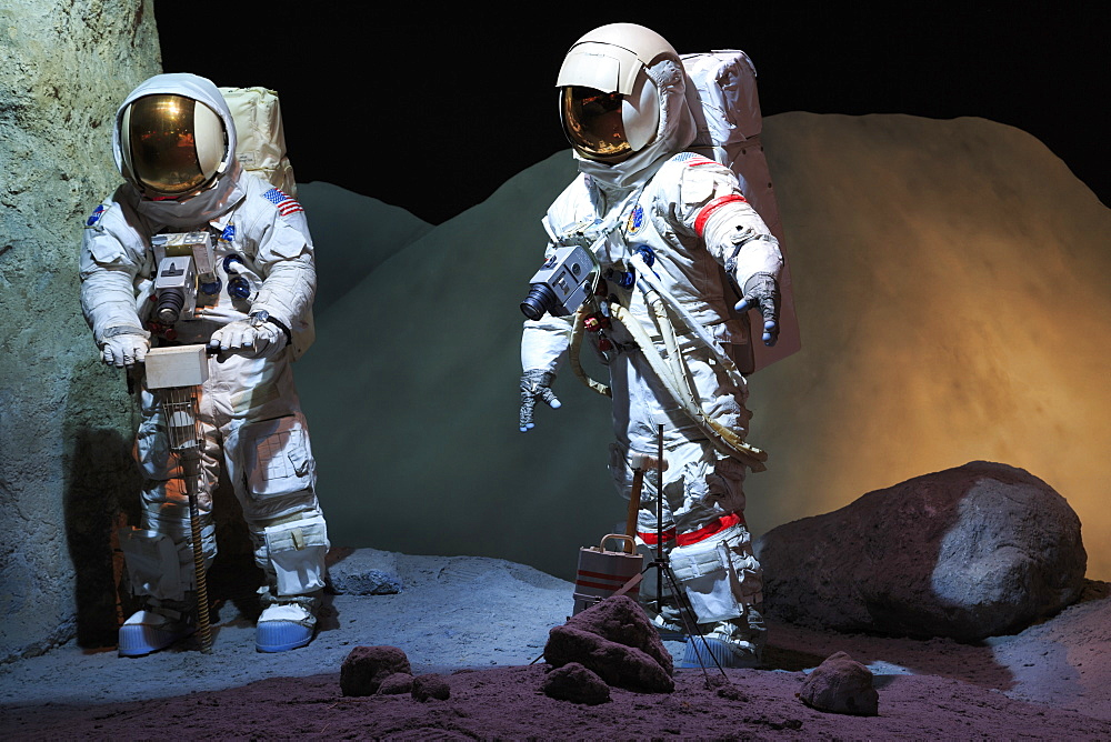 Astronaut suits in the Space Center, Houston, Texas, United States of America