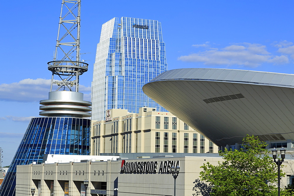 Bridgestone Arena on Broadway Street, Nashville, Tennessee, United States of America, North America