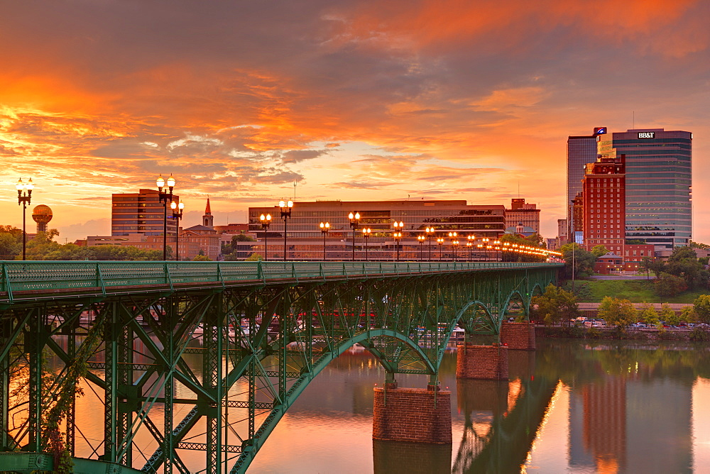 Gay Street Bridge and Tennessee River, Knoxville, Tennessee, United States of America, North America