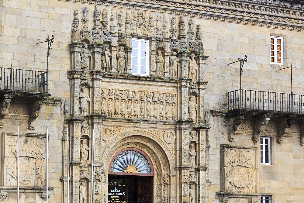 Hostal dos Reis Catolicos in Old Town, Santiago de Compostela, UNESCO World Heritage Site, Galicia, Spain, Europe