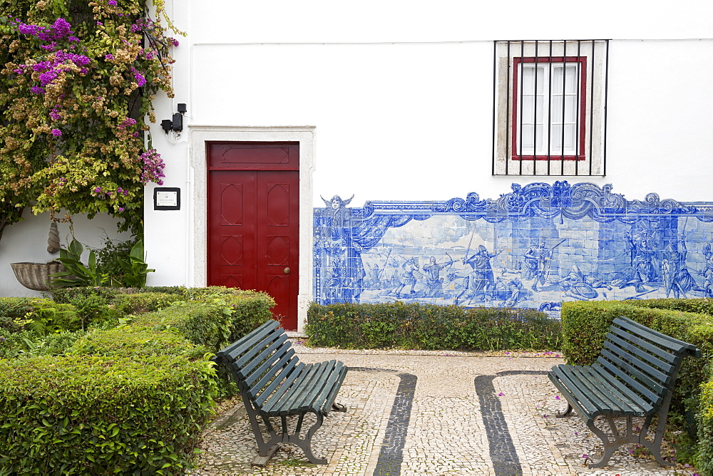 Julio de Castillo Garden, St. Luzia Church, Alfama District, Lisbon, Portugal, Europe
