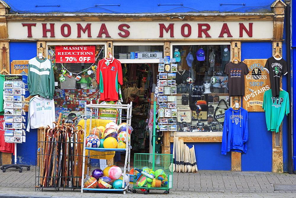Thomas Moran's shop in Westport Town, County Mayo, Connaught, Republic of Ireland, Europe