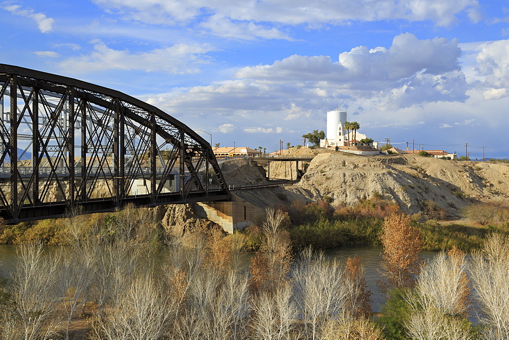 St. Thomas Indian Mission and Railway Bridge, Yuma, Arizona, United States of America, North America