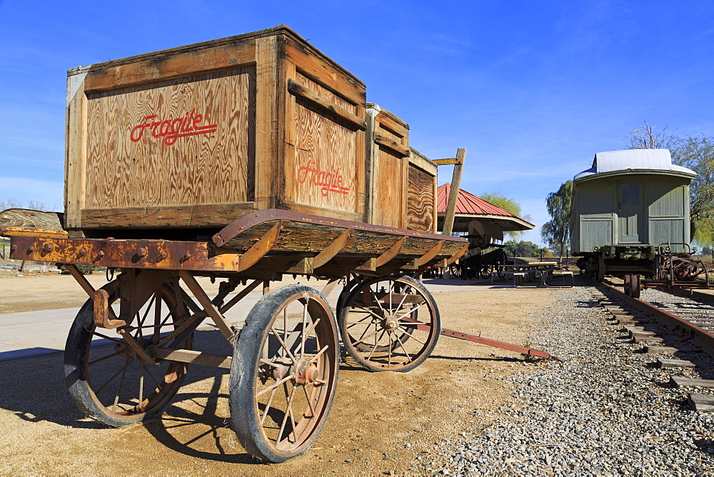 Wagon in Yuma Quartermaster Depot State Historic Park, Yuma, Arizona, United States of America, North America