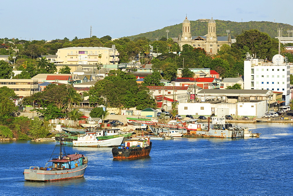 Waterfront in St. John's, Antigua, Antigua and Barbuda, Leeward Islands, West Indies, Caribbean, Central America