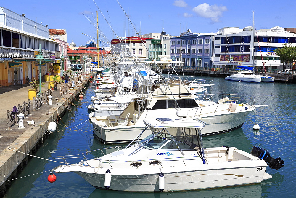 Boats in The Careenage, Bridgetown, Barbados, West Indies, Caribbean, Central America
