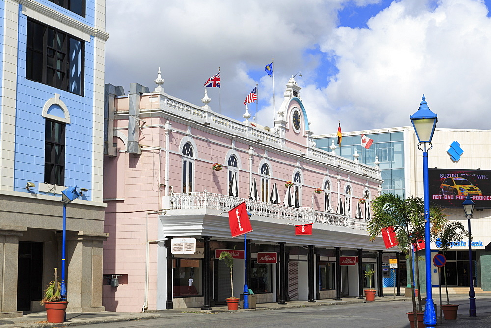 Historic Colonnade Building, Bridgetown, Barbados, West Indies, Caribbean, Central America