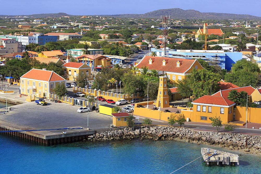 Kralendijk waterfront, Bonaire, West Indies, Caribbean, Central America