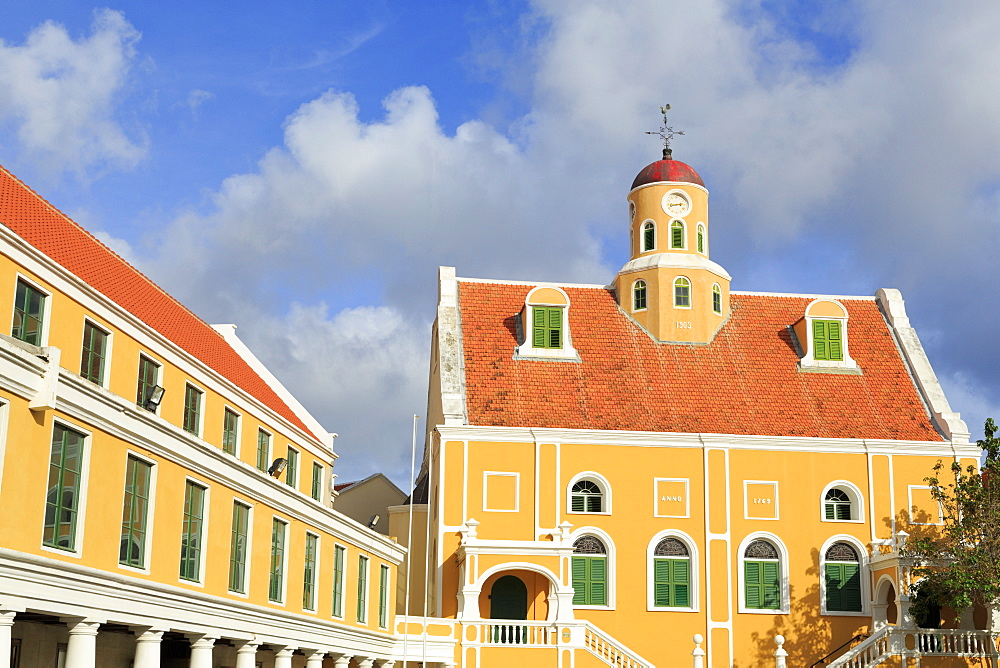 Fort Church in Fort Amsterdam, Punda District, UNESCO World Heritage Site, Willemstad, Curacao, West Indies, Netherlands Antilles, Caribbean, Central America