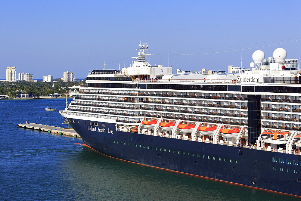 Holland America cruise ship in Port Everglades, Fort Lauderdale, Florida, United States of America, North America