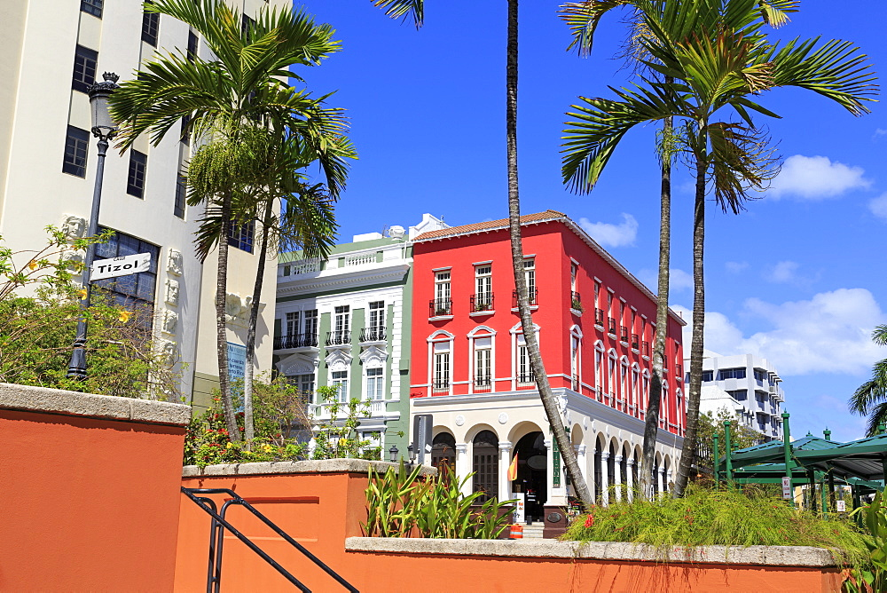 Paseo de La Princesa in Old San Juan, Puerto Rico, West Indies, Caribbean, Central America