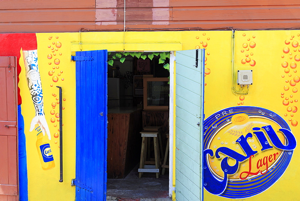Bar in Roseau, Dominica, Windward Islands, West Indies, Caribbean, Central America