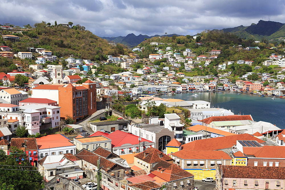 Downtown St. Georges, Grenada, Windward Islands, West Indies, Caribbean, Central America