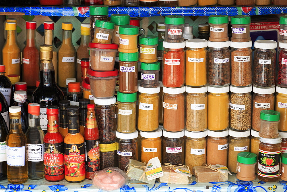 Spices in the Market, St. Georges, Grenada, Windward Islands, West Indies, Caribbean, Central America