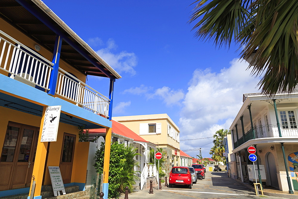 Rue Jeanne d'Arc in Gustavia, St. Barthelemy (St. Barts), Leeward Islands, West Indies, Caribbean, Central America