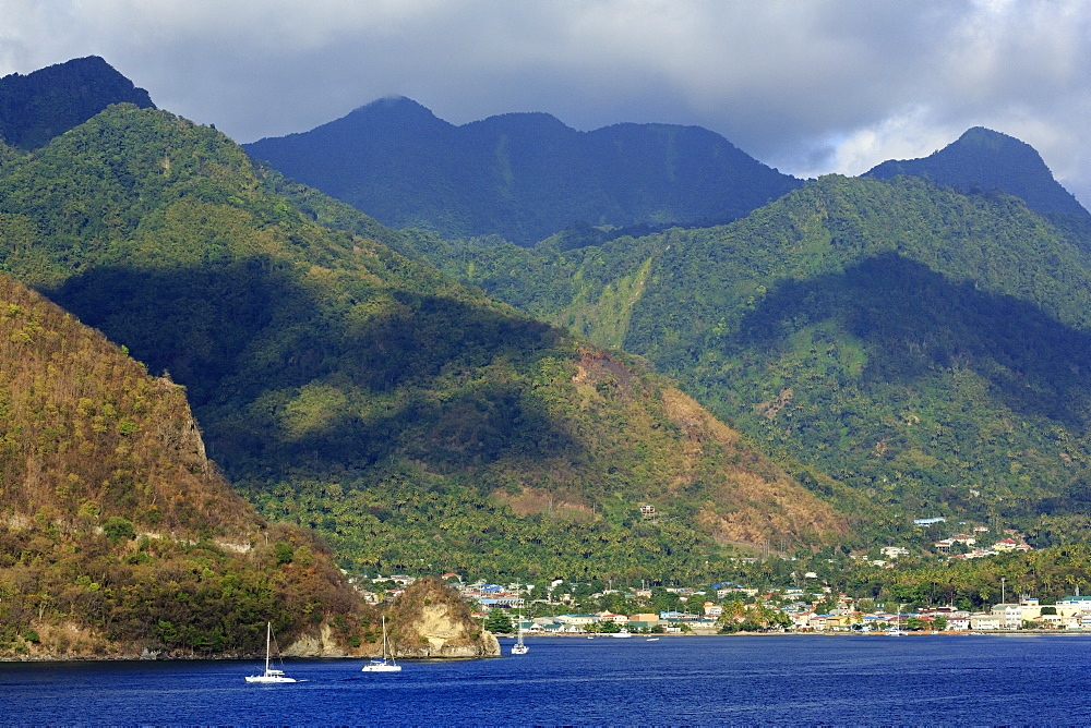 Coastline of Soufriere, St. Lucia, Windward Islands, West Indies, Caribbean, Central America