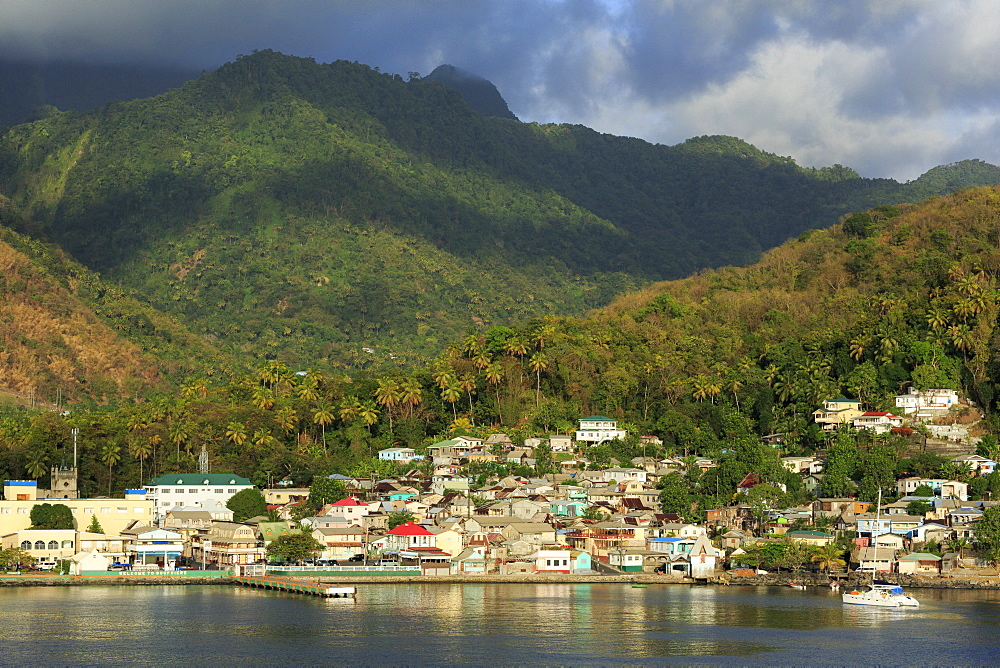 Town of Soufriere, St. Lucia, Windward Islands, West Indies, Caribbean, Central America