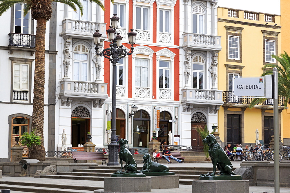 Plaza de Santa Ana in the Vegueta District, Las Palmas City, Gran Canaria Island, Canary Islands, Spain, Europe