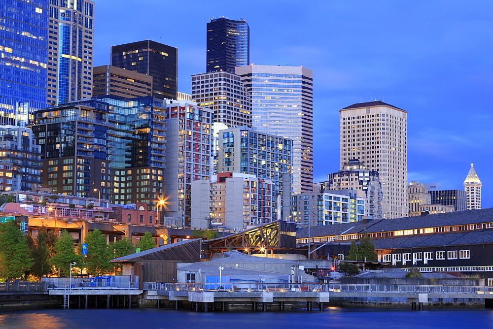 Seattle skyline, Washington State, United States of America, North America