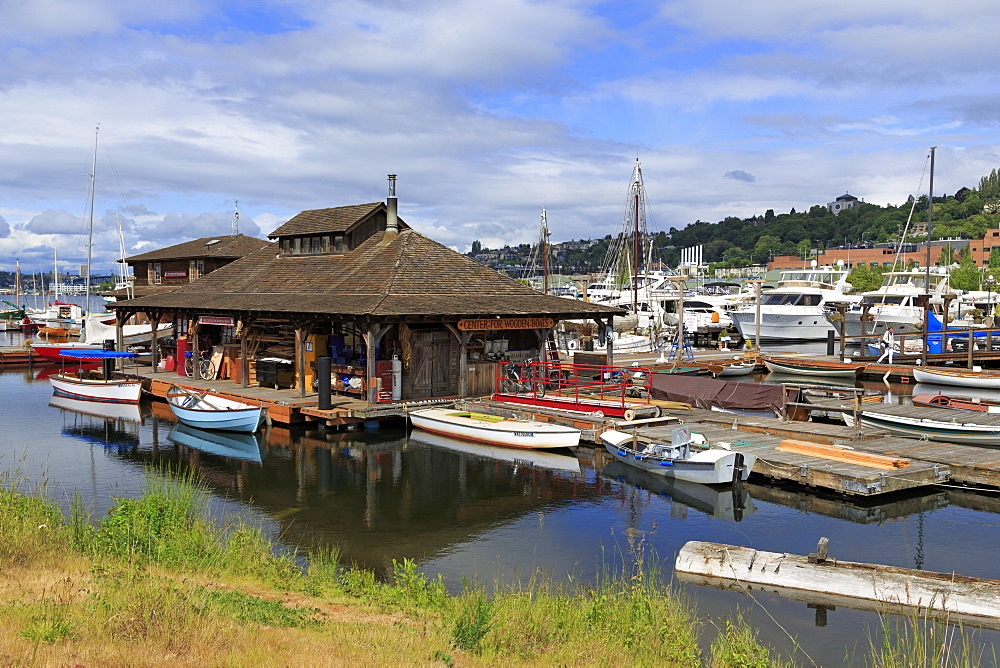 Center for Wooden Boats, Lake Union Park, Seattle, Washington State, United States of America, North America