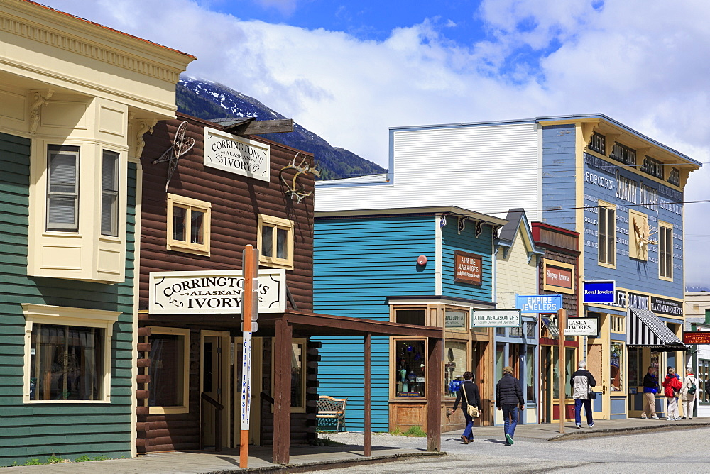 Broadway Street, Skagway, Alaska, United States of America, North America