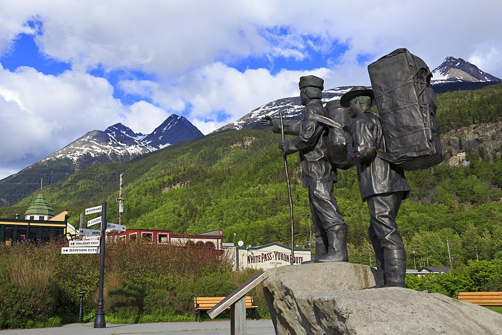Prospector and Guide Monument, Skagway, Alaska, United States of America, North America