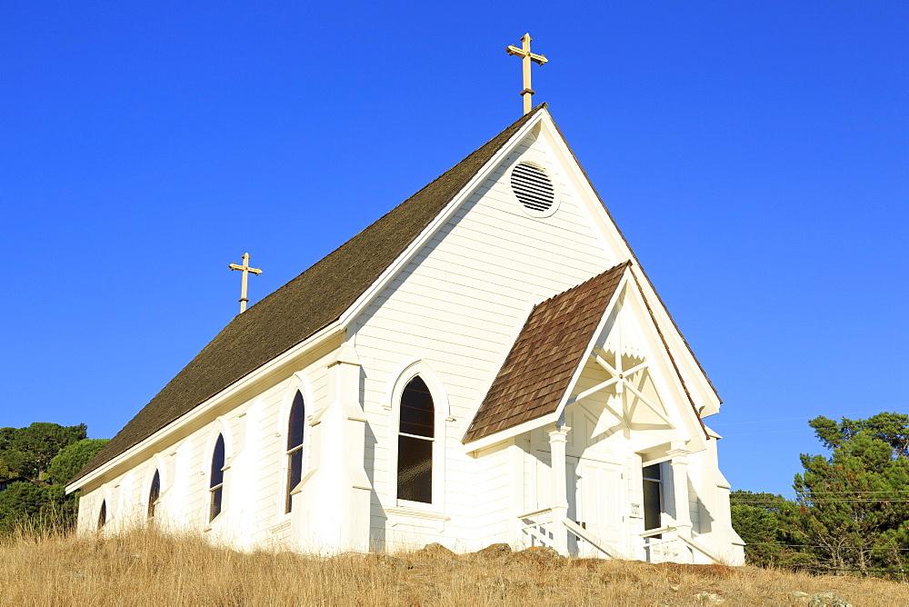 Historic Old St. Hilary's Church, Tiburon, Marin County, California, United States of America, North America