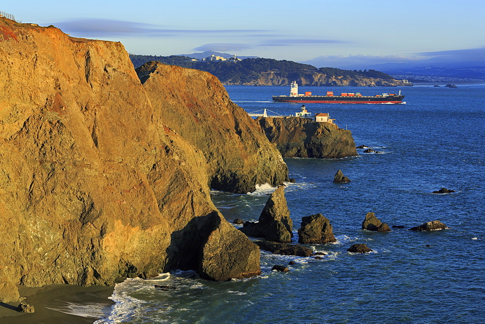 Point Bonita Lighthouse, Golden Gate National Recreation Area, Marin County, California, United States of America, North America