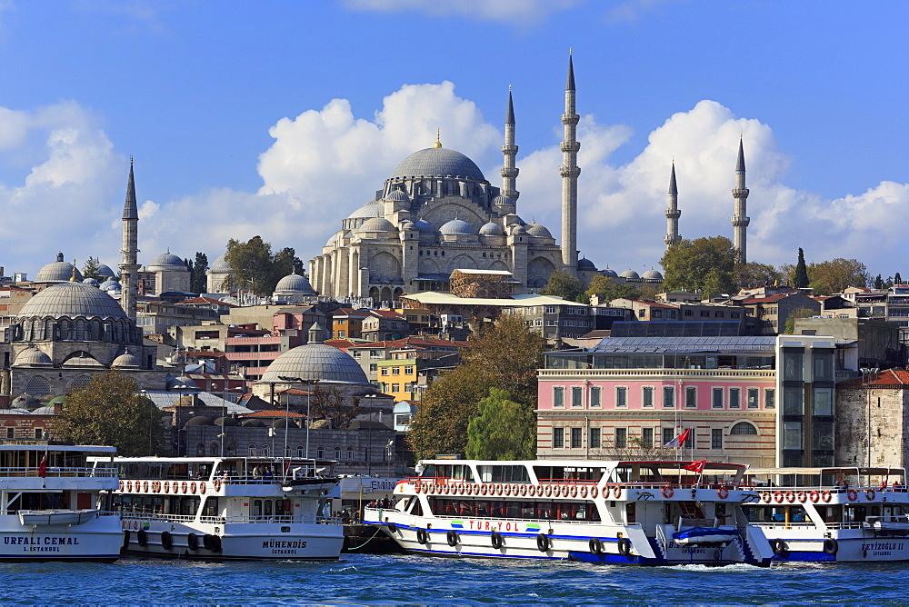 Sulemaniye Mosque, Eminonu and Bazaar District, Istanbul, Turkey, Europe