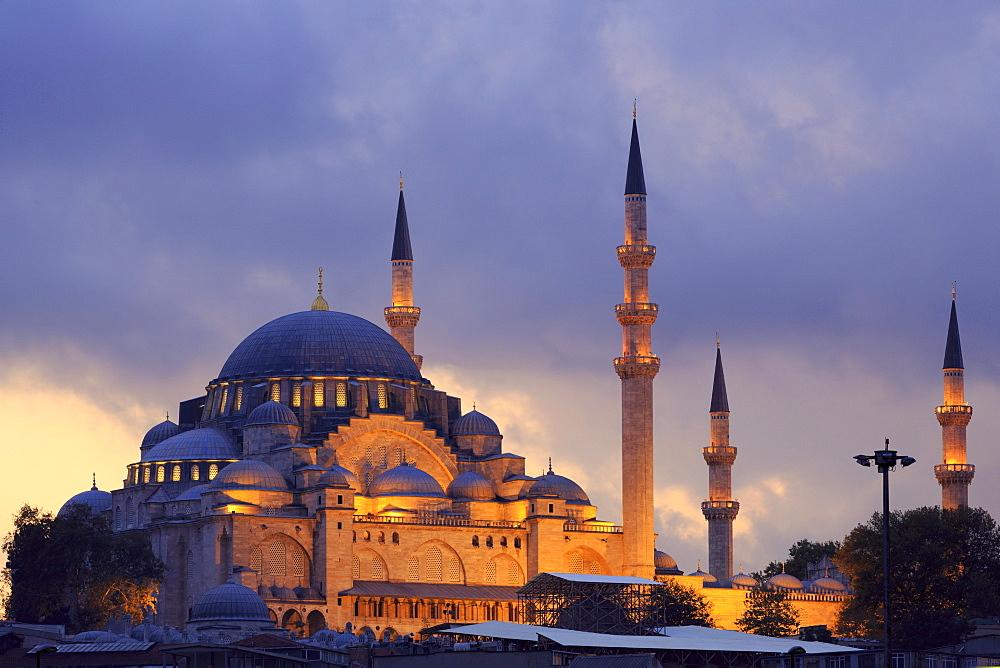 Suleymaniye Mosque, UNESCO World Heritage Site, Eminonuand Bazaar District, Istanbul, Turkey, Europe