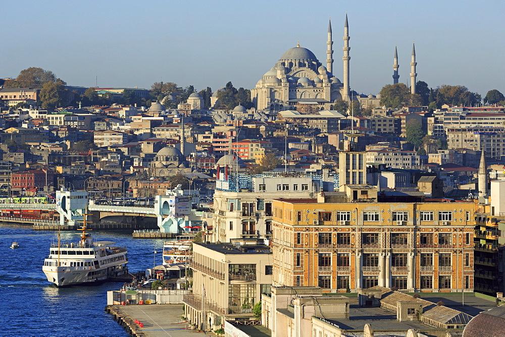 Karakoy area on the Golden Horn, Istanbul, Turkey, Europe