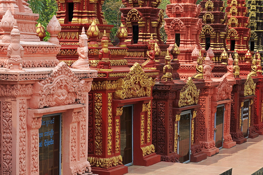 Cemetery in Wat Krom Temple, Sihanoukville Port, Sihanouk Province, Cambodia, Indochina, Southeast Asia, Asia
